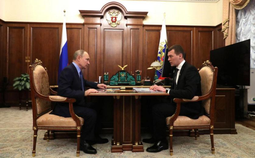 Встреча Дегтярева с Путиным