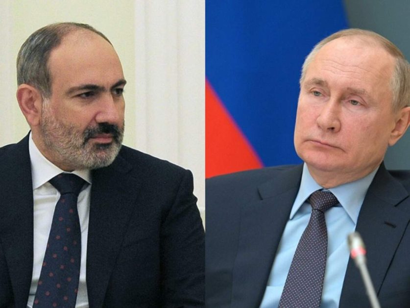 Просим помощи России Никол Пашинян обратился к Владимиру Путину