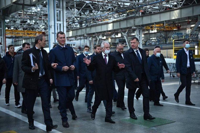 Григоренко, Хуснуллин и Дегтярев проверили ключевые объекты Комсомольска-на-Амуре