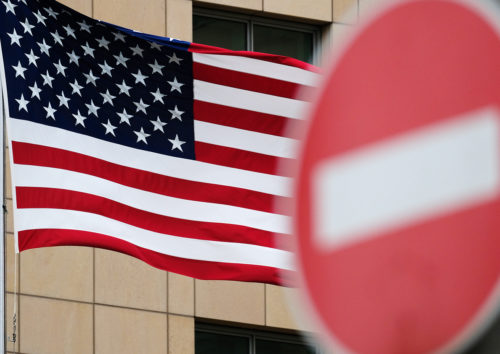 Россия направила санкции в отношении США