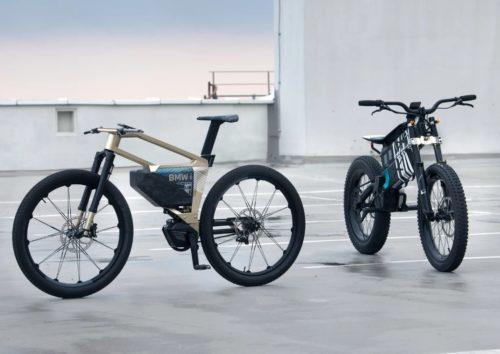 Новый концепт BMW мотоцикл за городом велосипед в городе
